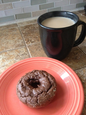 Wheat-free sugar-free chocolate donut